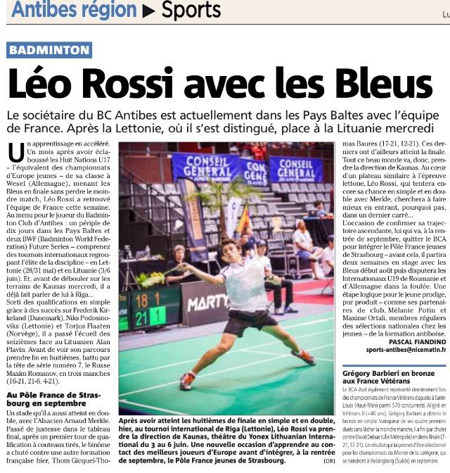 Presse : Léo avec l'équipe de France